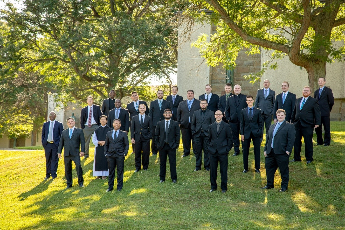 The 2019 entering class at Christ the King Seminary in Buffalo, New York.